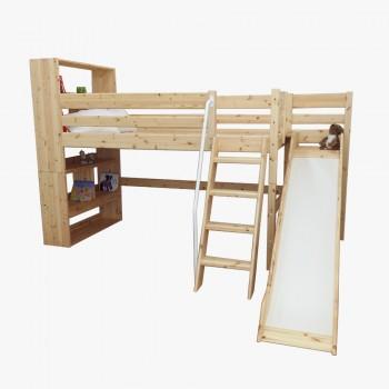 북케이스 벙커 사다리 미끄럼틀 침대