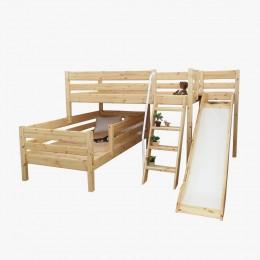 앤비 2층 크로스 사다리 미끄럼틀 침대