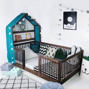 통원목 아이유플러스 하우스 침대 에쉬 메이플 월넛
