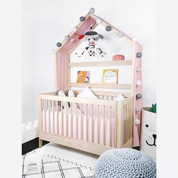 에쉬 메이플 통원목 아이 베이비 하우스 침대